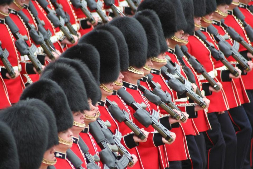 Trooping the Colours Soldaten London