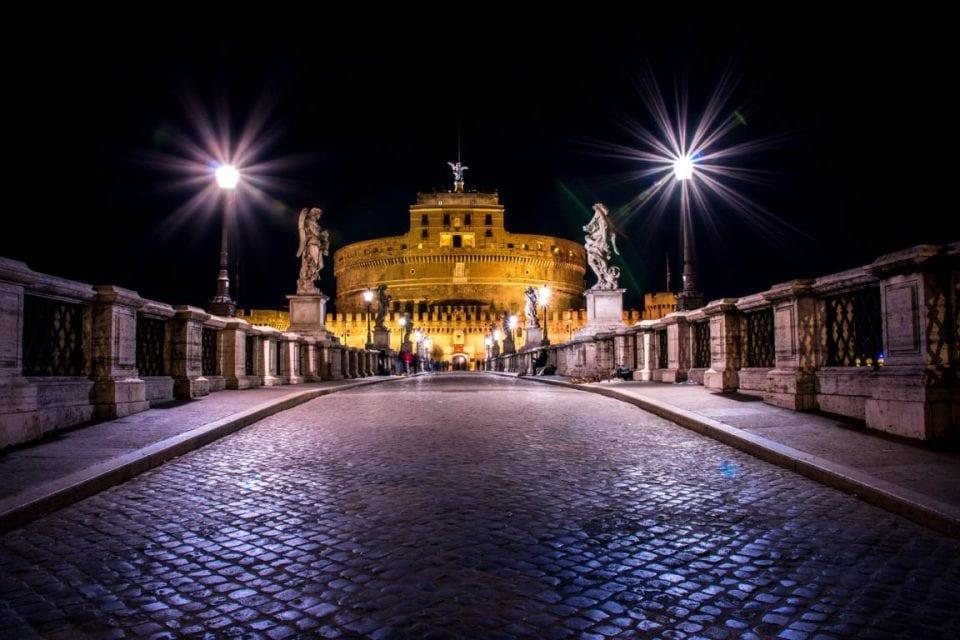 Prati Rom Engelsbrücke nacht
