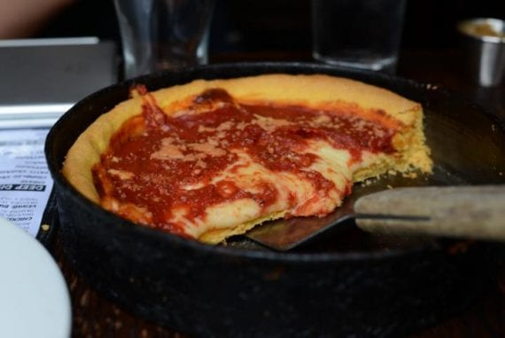 deep dish pizza Chicago