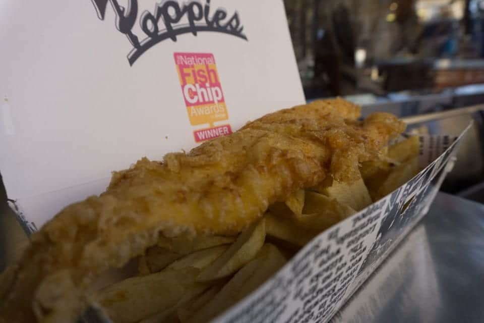 Essen in England -Fish and Chips