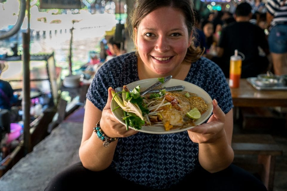 Pad Thai floating market Bangkok