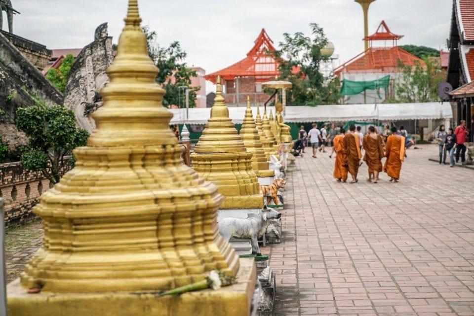 Thailand Tempel Mönche