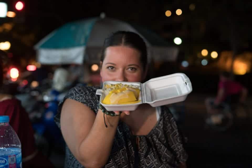 Mango Sticky Rice Thailand Street Food