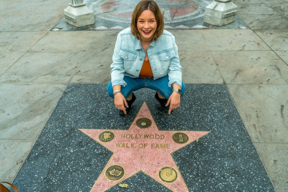 Kalifornien Hollywood Los Angeles Walk of fame