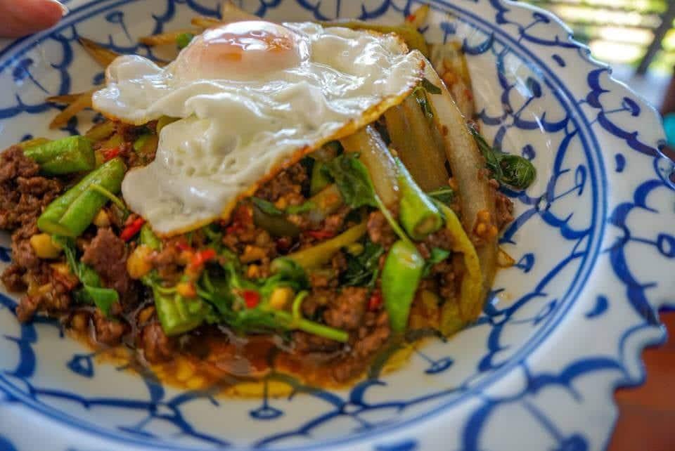 pad Krapow street food in Thailand