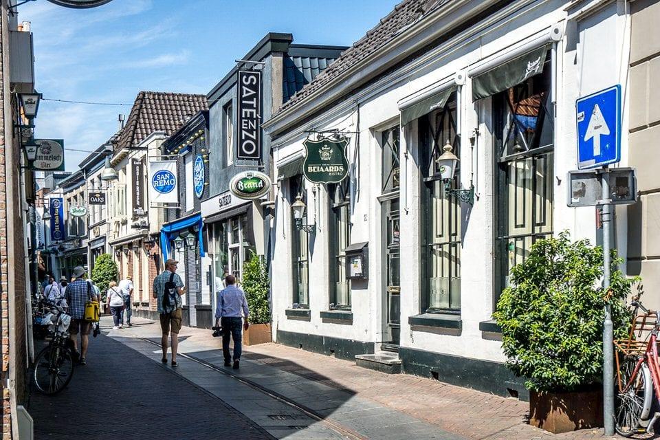 Fachwerkhäuser, niederlande, straße, stadt enschede sehenswürdigkeiten