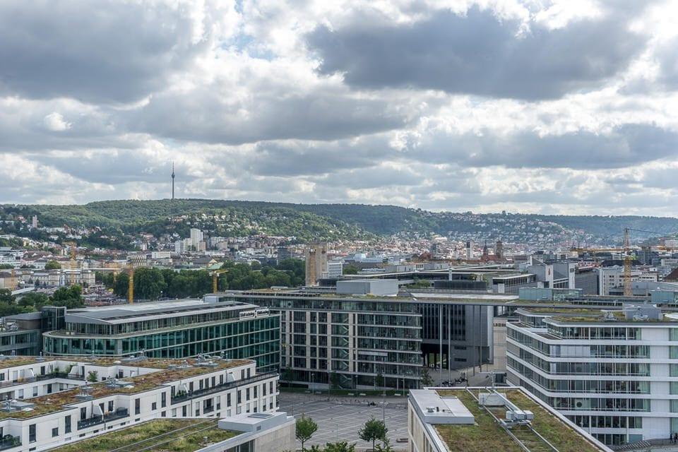 Ausblick Stuttgart von Stadtbibliothek