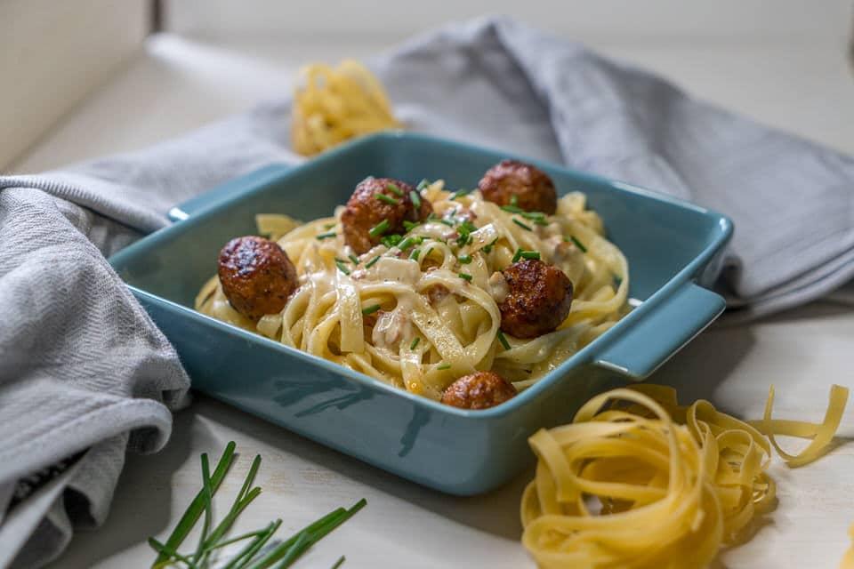 Nudeln mit Salsiccia und Sahne - einfaches italienisches Rezept