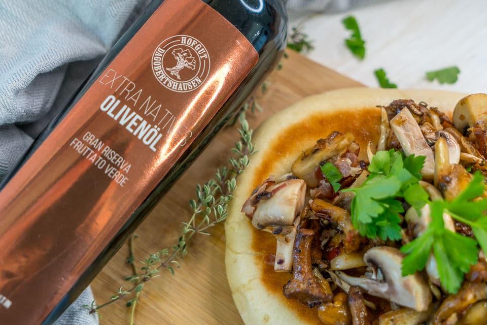 Bazlama Rezept - Klassisch oder mit Pilzen und Trüffelcreme