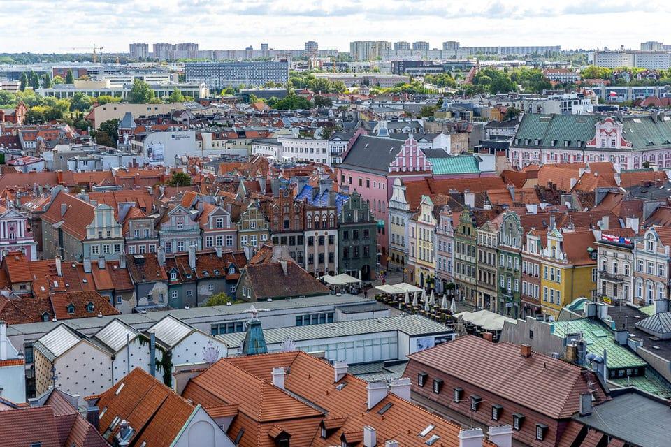 Posen Poznan Aussicht Altstadt
